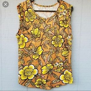 Floral linen tank top from Ann Taylor